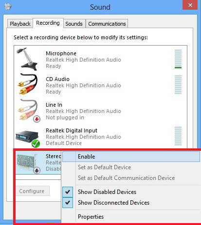 how to add audio device again