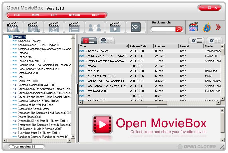 Remove the movie(s) from the movie database